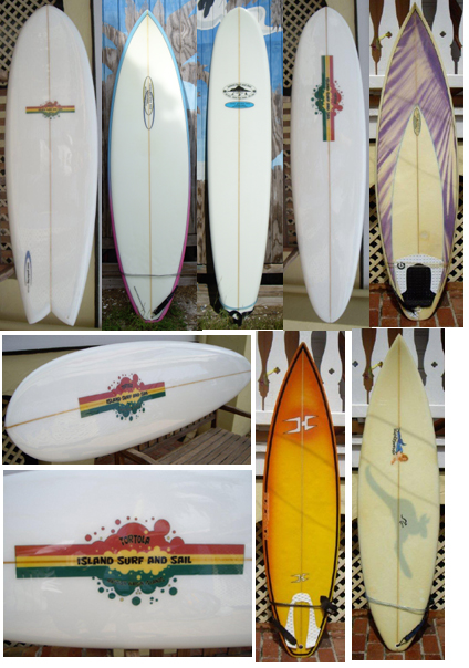 Surfboard rentals including Cane Garden Bay shaped boards and surfing accessories in Tortola BVI.
